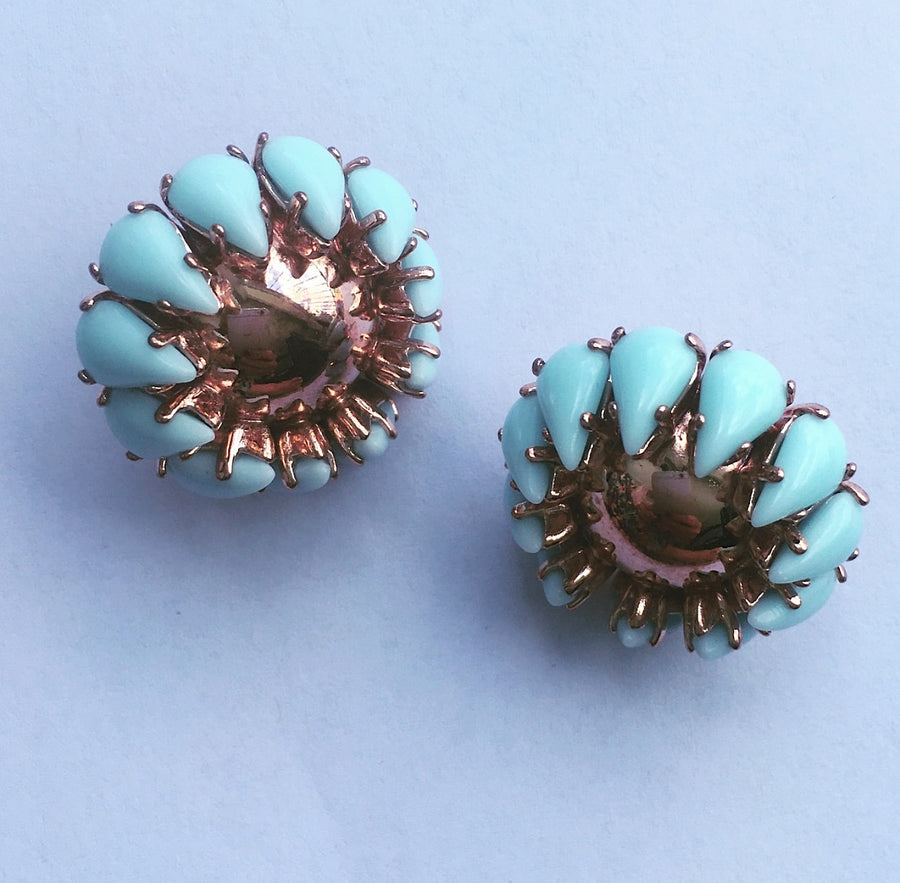 PAINTED MUSE EARRINGS - PIERCED STUDS