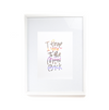 The Penny Paper Co. - Art Print, I Love You To The Moon And Back, Hologram