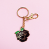 Darling Distraction - Rose Keychain Black