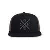 Art Nerd Trucker Hat- Black/Charcoal