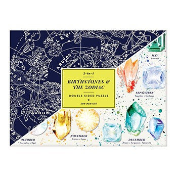 Birthstones & The Zodiac 2-in-1 Double Sided Puzzle