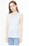 Melrose Muscle Tee in Baby Blue