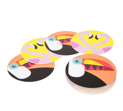 Flamingo and Toucan Coasters