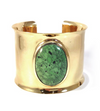 Stutts Cuff- Gold & Green Turquoise