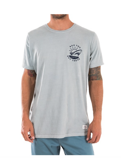 Katin Sharkie Tee - Powder Blue