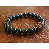 Men's Tiger Eye Rudraksha and Copper Mala Bracelet