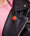 Darling Distraction - Red Rose Pin