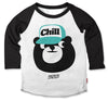 Kids Chill Bear Baseball Tee