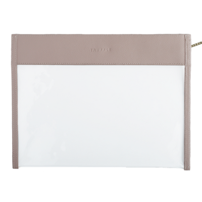 Clarity Clutch Large- Nude