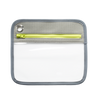 Clarity Pouch Small- Pewter Slate Lime