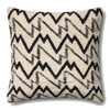 Dhurri Pillow- Ivory/Black