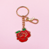 Darling Distraction - Red Rose Keychain