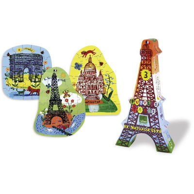 Eiffel Tower 3 Wooden Puzzles By Nathalie Lete