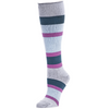 Eva - Knee High Socks Multi Stripe Orchid