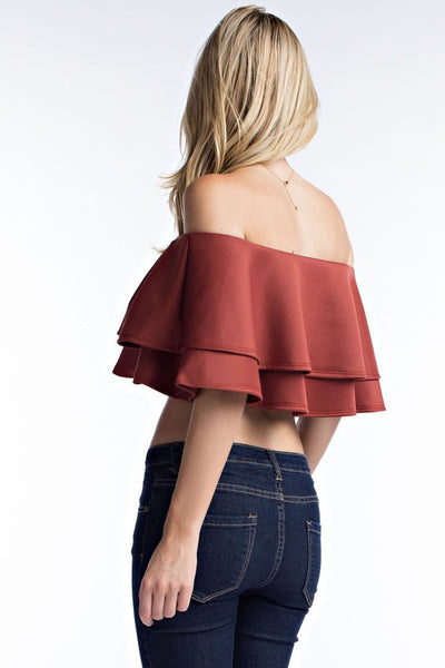 The Double Ruffle Crop
