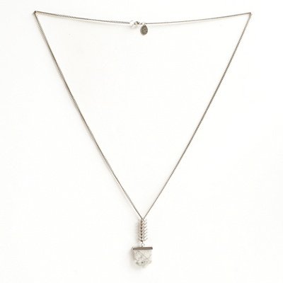 Howlite Bullet Necklace in Silver