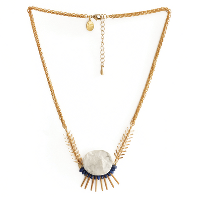 Howlite Orbital with Lapis Necklace