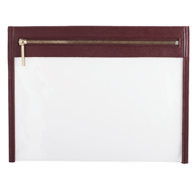 Clarity Clutch Large- Cabernet