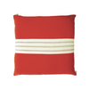 "Orange Velvet & Gray Stripe 20"" Pillow"