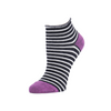Rosie - Anklet Socks Striped Black Orchid