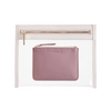 Clarity Clutch Small- Blush + Coin Pouch Rose