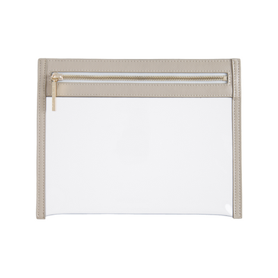 Clarity Clutch Small- Nude