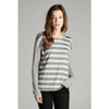 Striped Long Sleeve Shirt - Charcoal