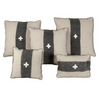 Swiss Army Pillow Cover - Cream + Black