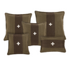 Swiss Army Pillow 24x24 - Green + Brown