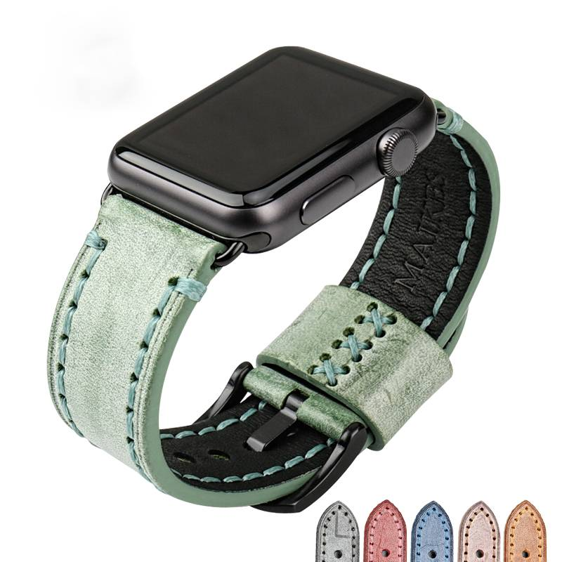 Special Colour with Pin Buckle Apple Watch Leather Strap