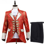 Fabulous Five Pieces Set Europe Court Style Men Costume Suits