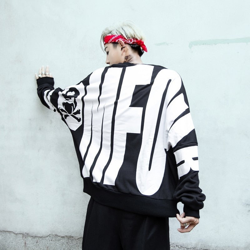 Hip Hop Baggie Style with Big Letter Back Detail Men Sweater