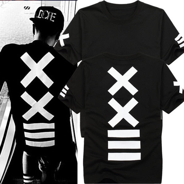 Fashion  Hip Hop Streetwear Men T-Shirt