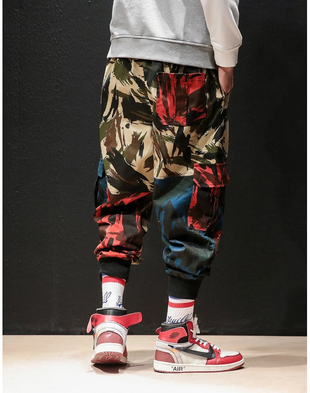 Camouflage Streetwear Style Multi Colour Art Men Cargo Pants - FanFreakz