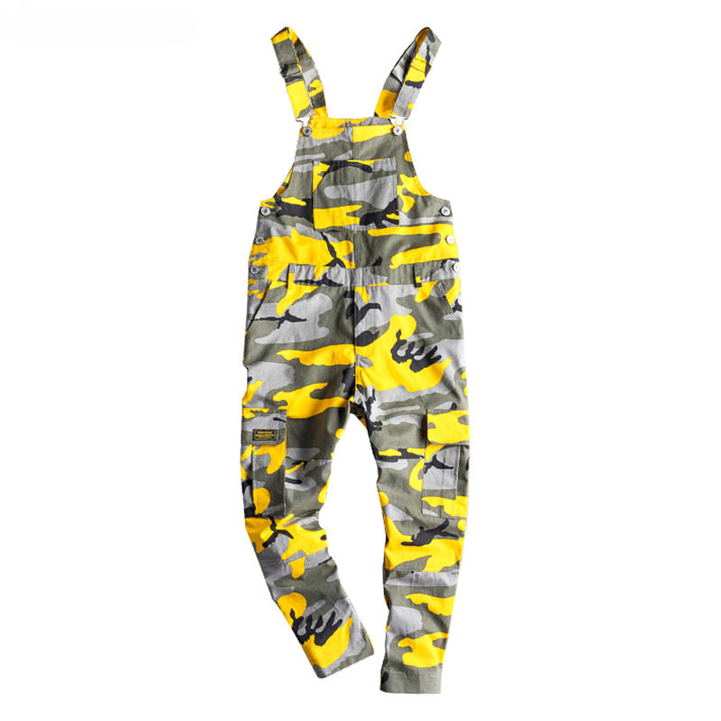 2283c60fdbe6f Bright Casual Camouflage Multi Pockets Men Overall Pants - FanFreakz