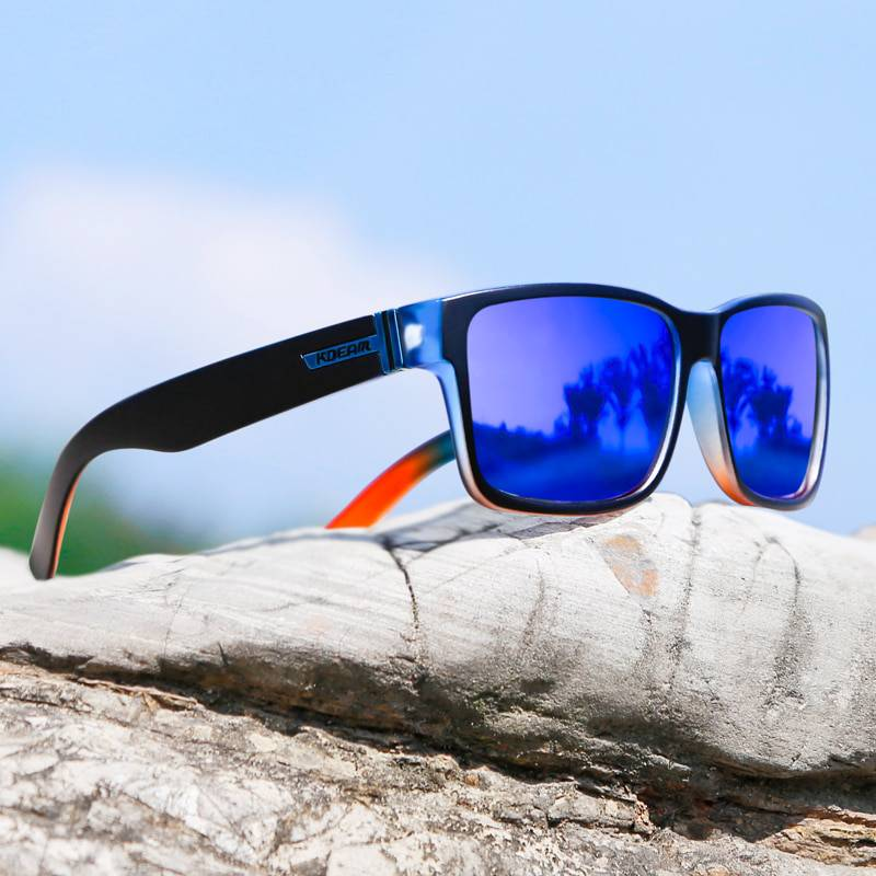 Square Sport Polarized with Colorful Lenses Men Sunglasses