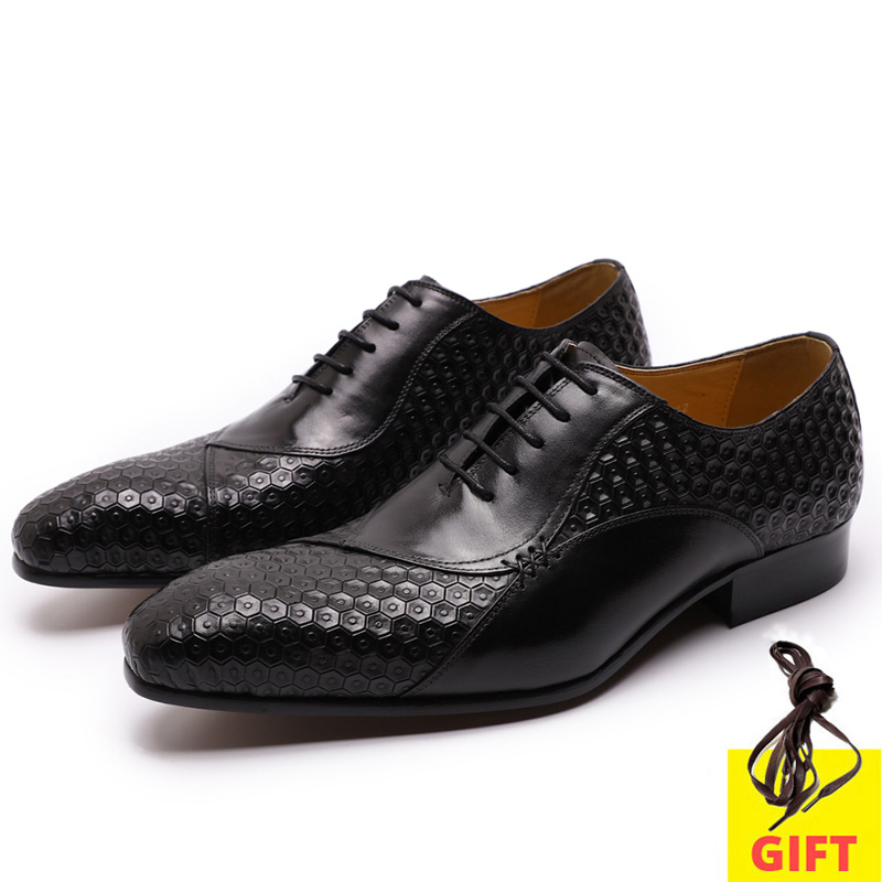 Mens Dress Shoes Genuine Leather Italian Formal