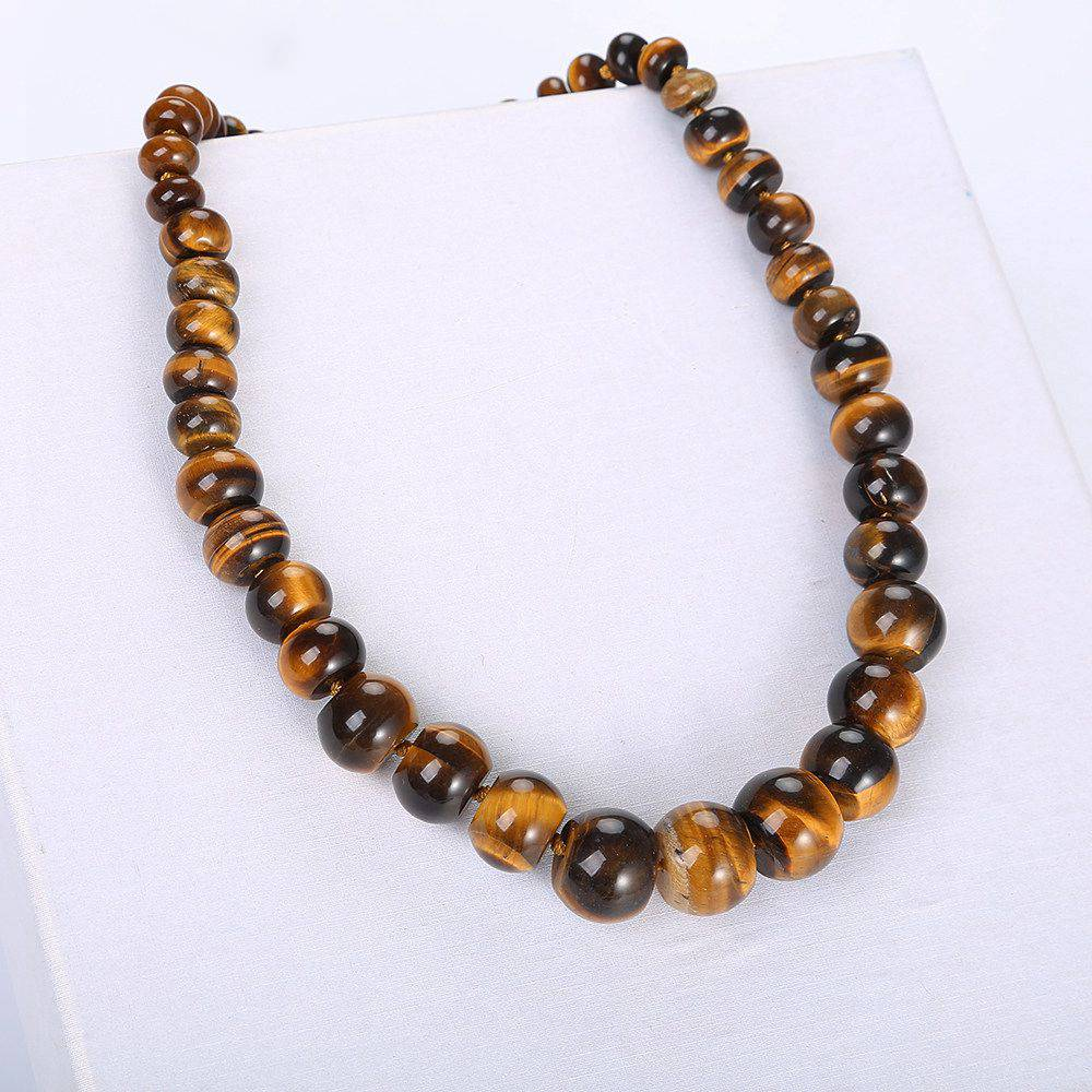 Vintage Beaded Choker Natural Stone Design Men Necklace