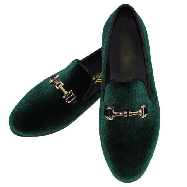 Simple Horsebit Buckle Men Velvet Loafer Shoes
