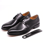 Perforated Leather Men Classic Look Derby Shoes