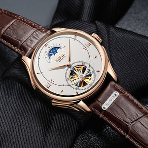 Automatic Mechanical Nesun Leather Band Men Watches - FanFreakz