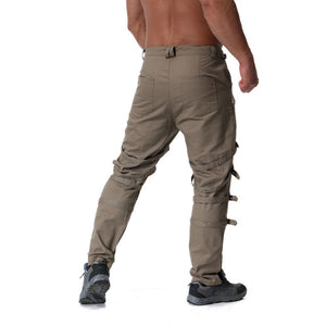 Rocker Style Multi Buckle Men Cargo Pants