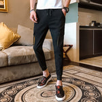 Side and Back Cargo Pockets Streetwear Style Men Casual Jogger Pants