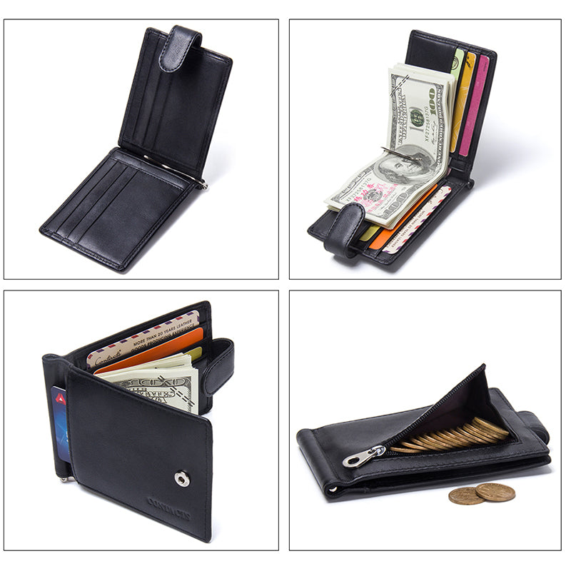 Hasp Closure Mini Money Clips with Cards Slots and Coin Purse