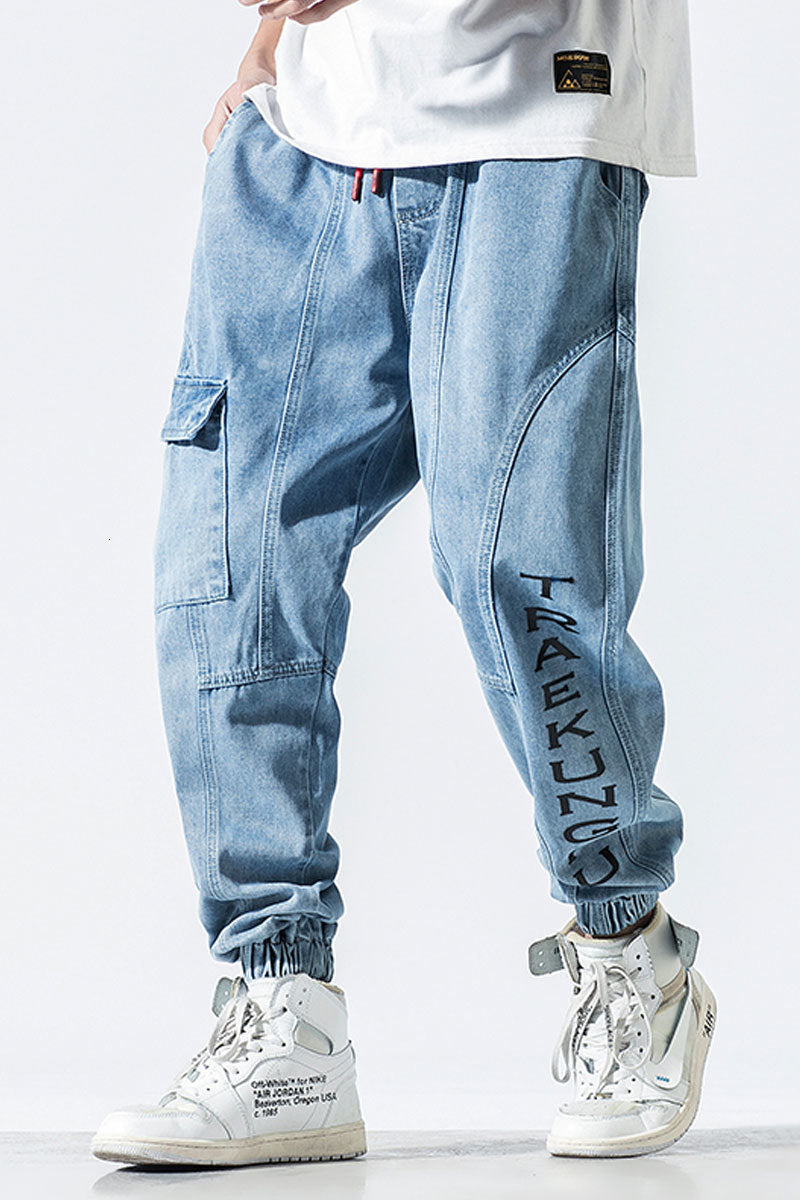 Baggy Loose Fit Jogger Style with Side Pockets Style Men Jeans