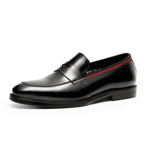 Black Casual Genuine Patent Leather Solid Formal Style Men Loafers Shoes