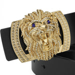 Barong Lion's Head Buckle Men Belt - FanFreakz