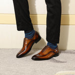 Simple Elegant Oxford Wingtip Men Formal Shoes