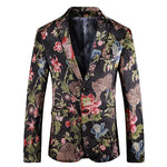 Animal Floral Printing Costume Style Men Slim Fit Blazer - FanFreakz