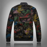 Hollow Out Net Style Men Slim Fit Bomber Jacket - FanFreakz
